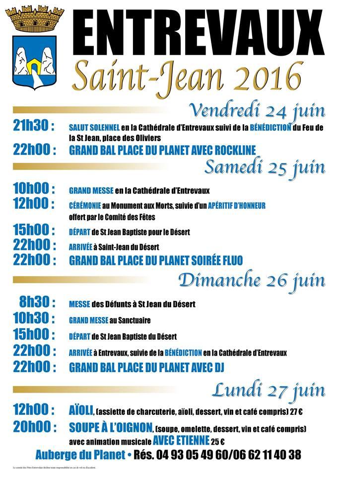 Saint Jean Baptiste 2016 à Entrevaux